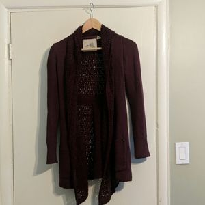 Anthropologie open cardigan